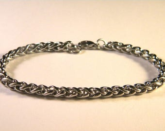 Bracelet with lobster clasp 21 cm silver PA5