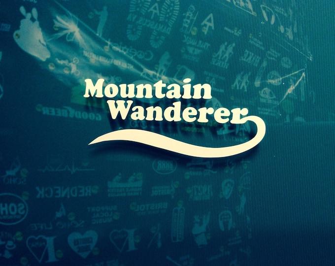 Mountain wanderer decal, hiker decal, appalachian trail decal, AT sticker, backpacker decal, hiker sticker, at sticker, thru hiker decal