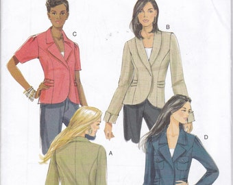 FREE US SHIP Butterick 5567 Sewing Pattern Jacket Peplum Back Size 6 8 10 12 14 16 18 20 Bust 30.5 31.5 32.5 34 36 38 4042  Factory Folded