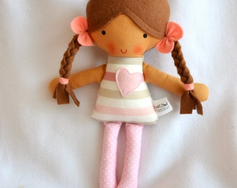Baby first doll Fabric Doll Hand Made Rag dolls Textile Doll Baby shower Gift Soft Doll Doll Soft toys Baby Doll Baby Soft toy Plush toy