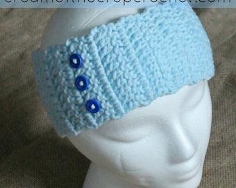 Jane Ear Warmers | Crochet Pattern | Crochet Button Row Ear Warmers Pattern | Crochet Ear Warmers | Ear Warmers Teens/Adult | PDF Pattern