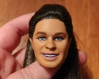 Repainted/rerooted Ken Doll head, 1979 Superstar face mold