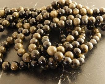 Golden Obsidian 8mm 10 beads