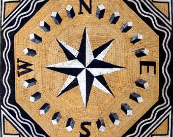 Wind Rose Geometric Mosaic