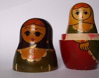 Vintage matryoshka dolls  Set of four nesting dolls