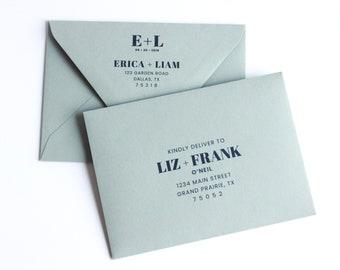 Euro Flap Envelope Addressing Service - Wedding Invitation Envelope Address PDF Customization - RSVP Envelope - PDF Digital Printable Files