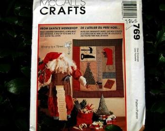 "Uncut Pattern - McCalls 7865 - From Santa's Workshop  - 21"" Santa Doll"