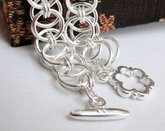 Chainmaille kit - chainmaille bracelet - chainmaille tutorial - learn chainmaille - DIY chainmaille - bracelet tutorial - bracelet kit