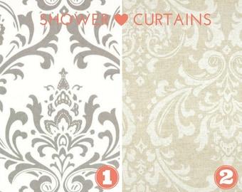 Stoff Duschvorhang - Badezimmer Dekor Traditionen Sturm grau - weiß oder Beige Leinen Cloud - Farbe 72 x 72 durchschnittlicher Größe wählen oder wählen Sie Größe