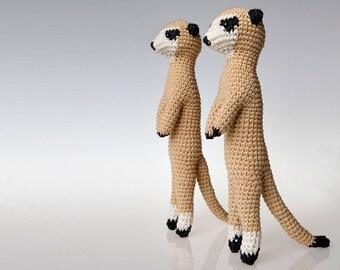 Meerkat Amigurumi Pattern, Meerkat crochet pattern, toy pattern, tapestry crochet, seamless crochet, home decor, toy crochet pattern