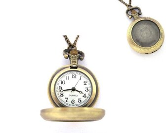 Wearable photo pocket watch custom gift