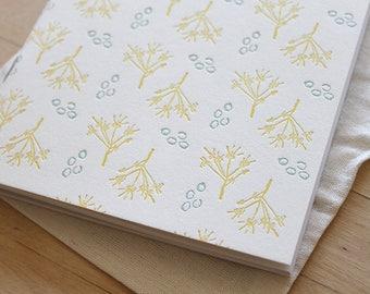 Letterpress Blank Journal - Illustrations from Thoreau's Journal