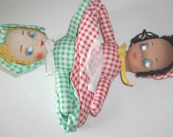 Vintage, topsy turvy, doll, gifts for her, collectable dolls