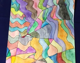 Colorful-watercolor on paper