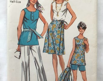 Simplicity 9428, Size 22 1/2 Pants, Tunic and Wrap Skirt