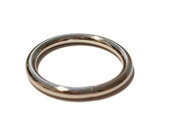 "Metal O-Rings -  1 1/4"" Heavy Duty Metal O-Rings - Hardware for dog Collars  - Dog Leash - Welded O Rings for Lanyard Webbing  Set of 3 or 6"