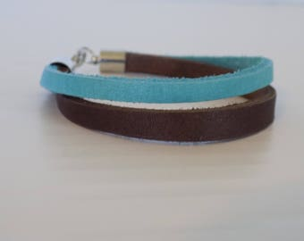 casual leather bracelet  accessory