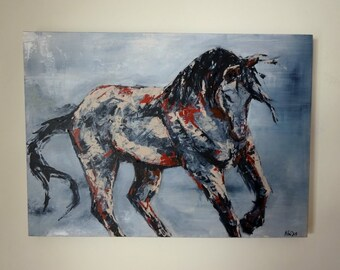 Horse Painting Abstract Modern Contemporary Art Original Painting on Canvas Palette Knife Painting Abstract Art Horse  ****MADE-TO-ORDER****