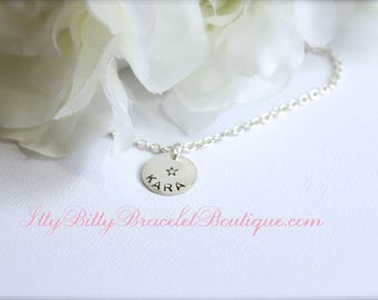 Girls Necklace, Sterling Silver, Personalized Name Necklace, Little Girls Jewelry Gift Wedding, Birthday, Kids Jewelry