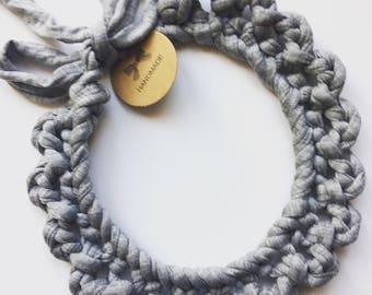 Chunky crochet necklace
