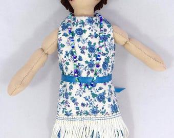 Flapper Girl Doll - 1920s - OOAK Art Doll - Toy - Handmade Flapper Doll