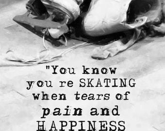 FIGURE SKATING TRAINING Skate Skater Ice Skating Training Photo Print