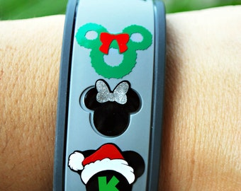 Holiday Monogram/ Initial Magic Band Decal Christmas Hanakkuh