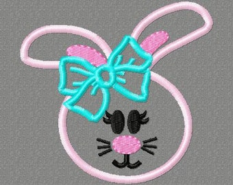 Easter Bunny princess Embroidery design ALL 3 SIZES INCLUDED  Easter, bunny, princess