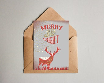 Merry and bright Christmas Card PRINTABLE