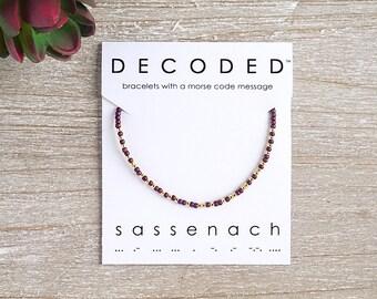 SASSENACH - Morse Code Bracelet - Outlander Bracelet - Morse Code Jewelry - Outlander Jewelry