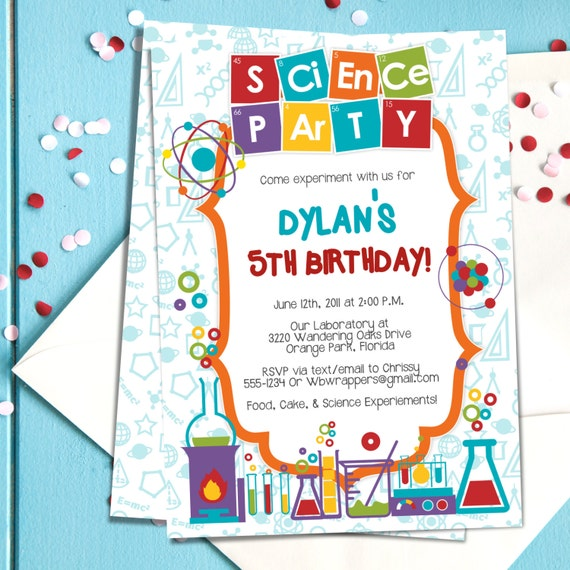 science party invitation template koni polycode co