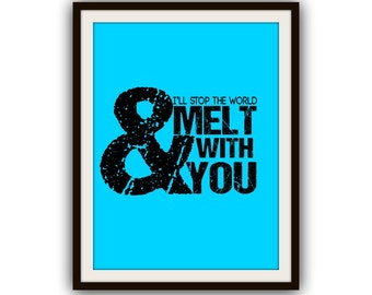 Typography Poster Vintage 80s Music Lyrics Print it Yourself