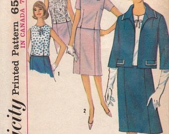 60s Blouse, Skirt & Jacket Pattern Simplicity 5793 Size 18