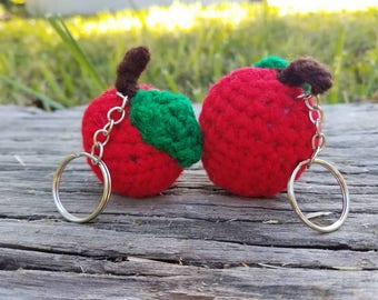 Crochet Mini Apple Keychain