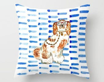 REDHEAD IN GLASSES Pillow 4 sizes - 2 orientations (indoor and outdoor fabrics)