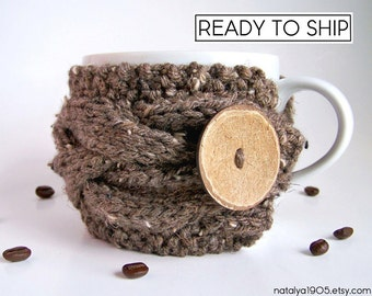 Coffee Cozy, Coffee Sleeve, Hygge Decor, Coffee Mug Cozy, Coffee Cup Sleeve, Knit Coffee Cup Cozy, Coffee Mug Sleeve Knit Coffee Sleeve