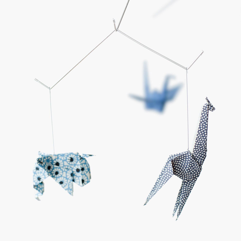 Baby Mobile Zoo Origami Mobile Chiyogami Collection Nursery