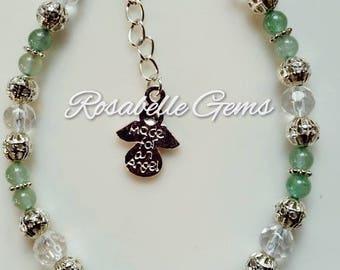 Heart Chakra, Green Aventurine, Bracelet, Chakra, Crystal Bracelet, Aventurine Bracelet, Green Aventurine Bracelet, Gemstone Jewelry, Green