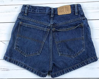 Vtg 90s CEST TOI Jeans High Waisted Denim Shorts Made in USA