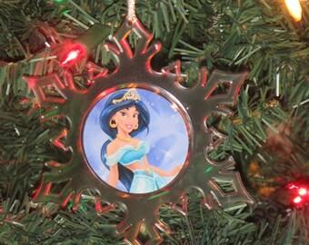 Disney Princess Jasmine Acrylic Frozen SnowFlake Ornament *Free Personalization*