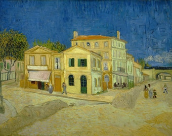 The Yellow House by Vincent Van Gogh, Giclee Canvas Print