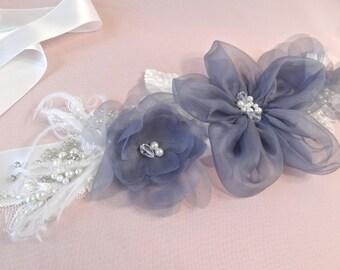 Bridal belt, lace bridal sash, gray wedding sash, Boho bridal, heirloom wedding, Bohemian wedding sash belt Style 512