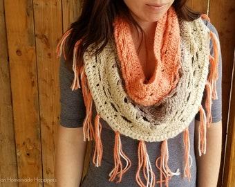 Crochet Cowl PATTERN - Crochet Infinity Scarf Pattern - Caron Cake Patter - Crochet Pattern  - Easy Crochet Pattern
