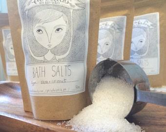 Shea & Coconut Bath Salts  { sea salt / mediterranean sea salts / salt soak / spa salts }