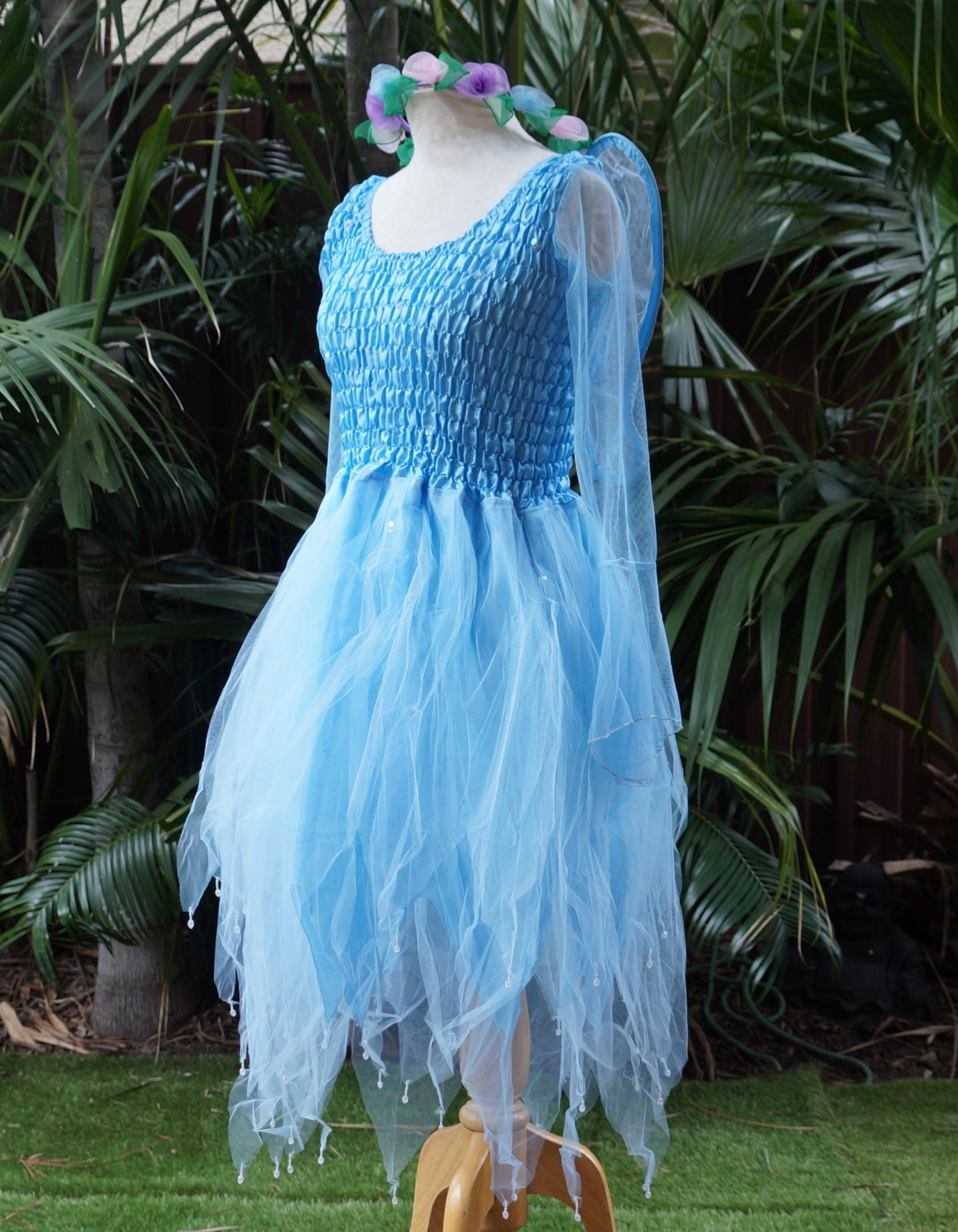 Fairy Dress PETITE Mardi Gras Party Halloween Costume with Sleeves ...