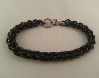 JPL Chain Mail, Stainless Steel bracelet, Biker Jewelry