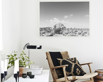 minimalist home decor, joshua tree large wall art, joshua tree photography art print, black and white statement art, wall art, desert print