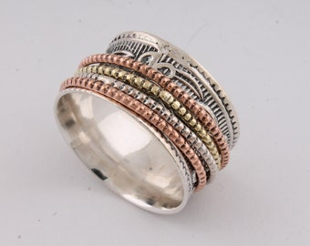 925 sterling silver RING (SPINNER RING)