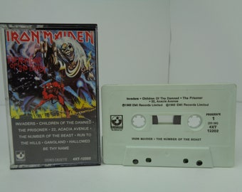 Iron Maiden The Number of the Beast Cassette Tape