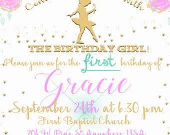 Little Dancer Birthday Invite